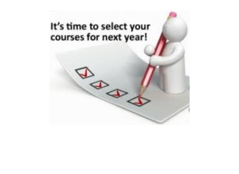 Course Selection Timeline