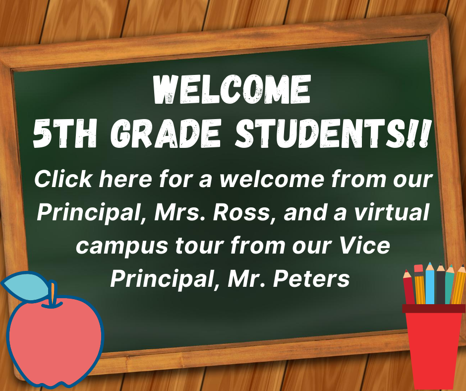Welcome 5th Grade Students