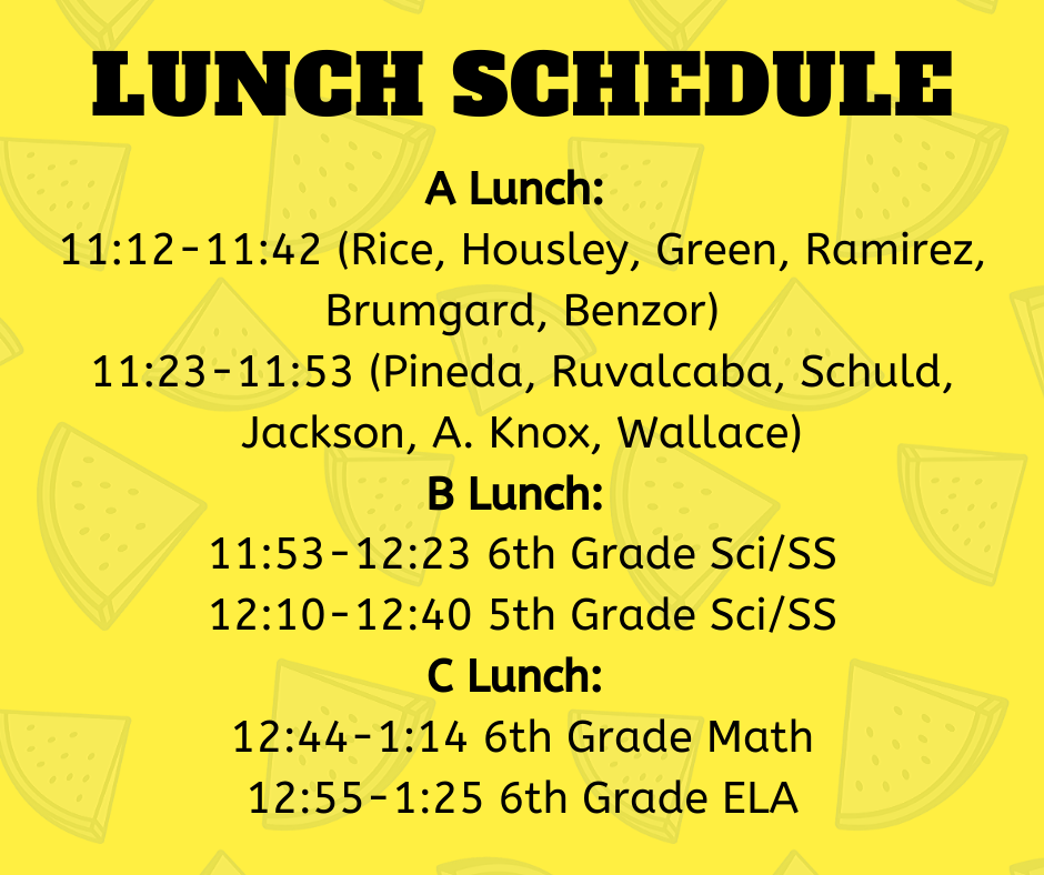 Lunch Schedules