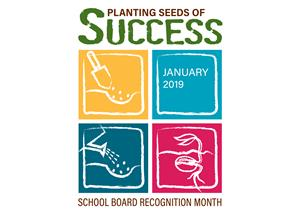 School board recognition logo.