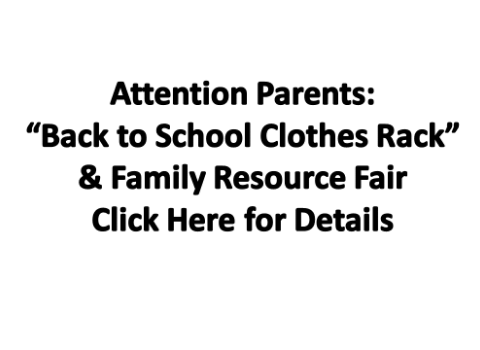 Back to School Clothes Rack & Family Resource Fair