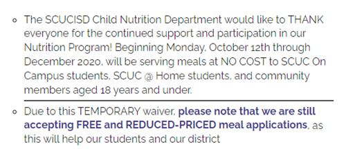 Nutrition Services Info