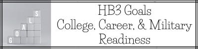 HB3 College, Career, Military Readiness Goals