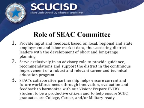 Role of SEAC Committee