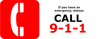 Image: In case of emergency call 911