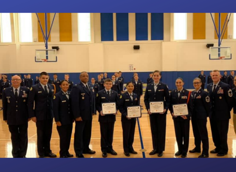 Clemens HS JROTC earns highest honors during evaluation