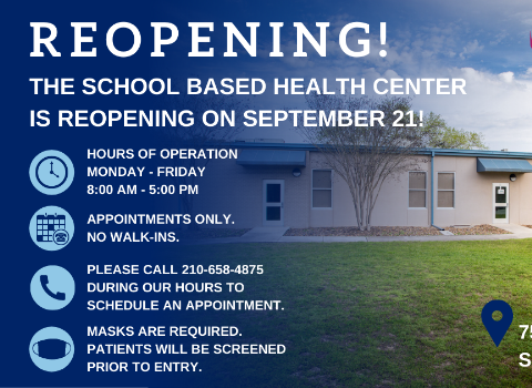 School Based Health Center to re-open