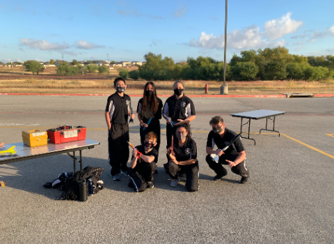 Steele, Clemens participate in inaugural rocketry meet